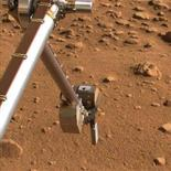 <p>Un'immagine presa dal Phoenix Mars Lander REUTERS/NASA/JPL-Caltech/University of Arizona/Texas A&M University/Handout</p>