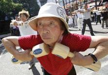 <p>Un'anziana giapponese REUTERS/Issei Kato</p>