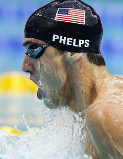 Michael Phelps of the U.S. competes in the men's 200m individual medley swimming final at the National Aquatics Centre during the Beijing 2008 Olympic Games, August 15, 2008. REUTERS/Jerry Lampen