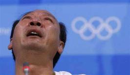 <p>Sun Haiping, l'allenatore di Liu Xiang REUTERS/Kim Kyung-Hoon</p>