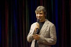 <p>Larry Page cofondatore di Google alla presentazione del nuovo browser del gruppo chiamato Google Chrome, Mountain View, 2 settembre 2008. REUTERS/Kimberly White</p>
