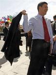 <p>Il ministro degli Esteri britannico David Miliband. REUTERS/Jean-Paul Pelissier</p>