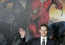 """<p>Tobey Maguire all'anteprima tedesca """"Spider Man 3"""" nell'aprile 2007a Berlino. REUTERS/Fabrizio Bensch</p>"""