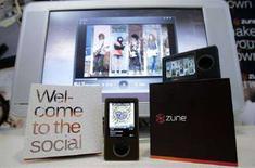 <p>Il lettore Zune di Microsoft. REUTERS/Robert Sorbo</p>