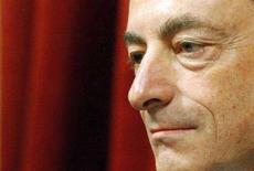 <p>Il governatore della Banca d'Italia, Mario Draghi. REUTERS/Alessandro Bianchi</p>