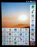 <p>Interface prototype du système d'exploitation mobile Android de Google. Le géant de la recherche sur internet se lance à l'assaut de Windows Mobile de Microsoft, de l'iPhone d'Apple, ainsi que de Symbian désormais détenu en intégralité par Nokia, le premier téléphone mobile conçu avec son système d'exploitation devant sortir à la fin de ce mois. /Photo prise le 14 février 2008/REUTERS/Albert Gea</p>