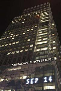 A general view of the Lehman Brothers building near Times Square in New York, September 14, 2008. REUTERS/Chip East