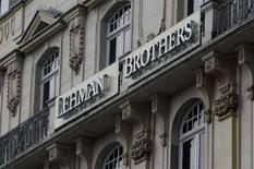 <p>Una sede di Lehman Brothers a Francoforte. REUTERS/Alex Grimm</p>