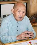 <p>Il giapponese Tomoji Tanabe, coi suoi 113 anni, è l'uomo più vecchio del mondo.EUTERS/Kyodo</p>
