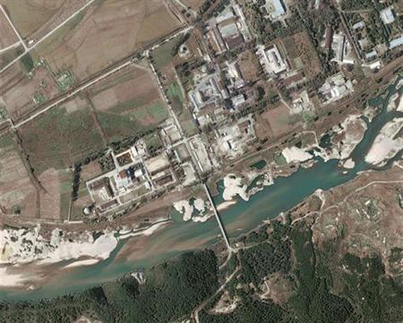 A digitalglobe satellite image shows a nuclear facility in Yongbyon, North Korea, September 29, 2004. REUTERS/Digital Globe