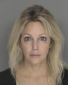 Heather Locklear is seen in an undated police booking photo. REUTERS/Santa Barbara County Sheriff's Department/Handout