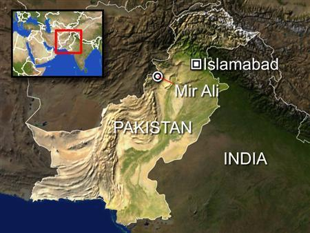 A U.S. pilotless drone fired two missiles at a house in northwest Pakistan killing five people, Pakistani intelligence agency officials said Wednesday. In the latest attack, a drone fired two missiles at a house near the town of Mir Ali in North Waziristan, at about midnight Tuesday, two intelligence agency officials said. REUTERS/Graphics