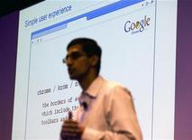 <p>Sundar Pichai, vice presidente della sezione product management di Google, presenta il nuovo browser Google Chrome a Mountain View, California, il 2 settembre 2008. REUTERS/Kimberly White</p>