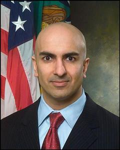 Neel Kashkari poses in an undated handout photo. REUTERS/U.S. Treasury Department/Handout