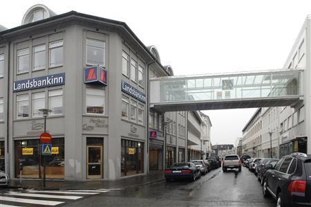 A branch of Iceland's Landsbanki Bank in Reykjavik October 6, 2008. REUTERS/Iceland Photo Agency
