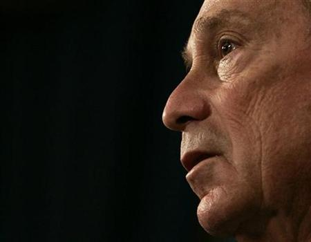 New York Mayor Michael Bloomberg speaks during a news conference on his plans to seek a third term as mayor in New York October 2, 2008. REUTERS/Shannon Stapleton