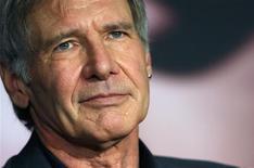 """<p>Harrison Ford a été élu meilleur président des Etats-Unis à l'écran, pour son rôle dans """"Air Force One"""" en 1997, dans le cadre d'un sondage réalisé par le site internet Moviefone.com. /Photo prise le 18 mai 2008/REUTERS/Jean-Paul Pélissier</p>"""