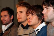 <p>I Take That,Orange, Barlow, Owen e Donald. REUTERS/Stringer.</p>