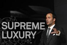 <p>Tom Ford, president and chief executive of Tom Ford International, speaks at the Supreme Luxury conference in Moscow November 28, 2007. REUTERS/Thomas Peter</p>