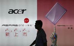 <p>Una pubblicità di Acer a Taiwan. REUTERS/Nicky Loh</p>