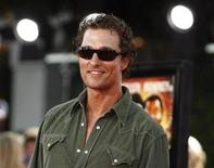 """<p>Cast member Matthew McConaughey poses at the premiere of """"Tropic Thunder"""" at the Mann's Village theatre in Westwood, California August 11, 2008. REUTERS/Mario Anzuoni</p>"""