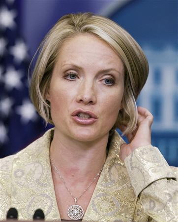 White House Press Secretary Dana Perino speaks during the daily press briefing at the White House in Washington, November 3, 2008. REUTERS/Larry Downing