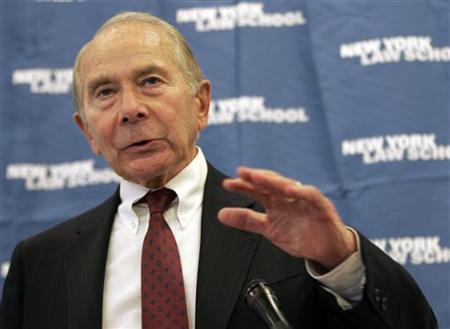 CV Star, Inc. Chairman and CEO and former AIG Chairman and CEO Maurice Greenberg speaks at a luncheon at the New York Law School in New York April 24, 2006. REUTERS/Keith Bedford