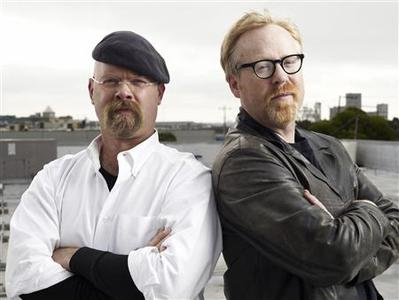 Jamie Hyneman (L) and Adam Savage of the television series ''Mythbusters''. The men will be appearing at ''YouTube Live'' in San Francisco on November 22, 2008. REUTERS/Courtesy of YouTube/Handout