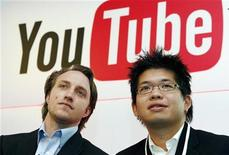 <p>I fondatori di YouTube. REUTERS/Philippe Wojazer</p>