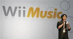 <p>Il designer giapponese di videogame Shigeru Miyamoto, creatore di Wii Music. REUTERS/Fred Prouser (UNITED STATES)</p>