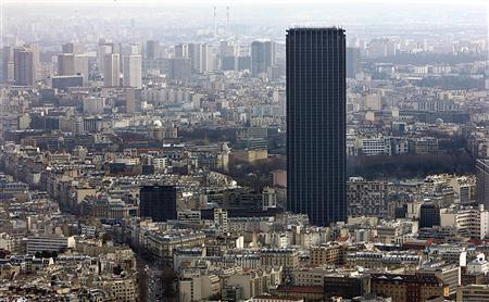 The Montparnasse tower, the tallest building in Europe is seen dominating Paris skyline, March 14, 2005. REUTERS/Philippe Wojazer