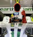 <p>Bruno Senna durante os testes da Honda REUTERS/Gustau Nacarino (SPAIN)</p>