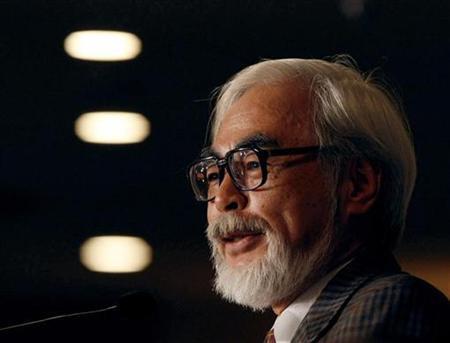 Japan's animation movie director Hayao Miyazaki speaks at a news conference in Tokyo November 20, 2008. REUTERS/Kim Kyung-Hoon