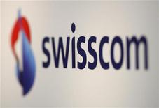 <p>Il logo Swisscom. REUTERS/Christian Hartmann (SWITZERLAND)</p>