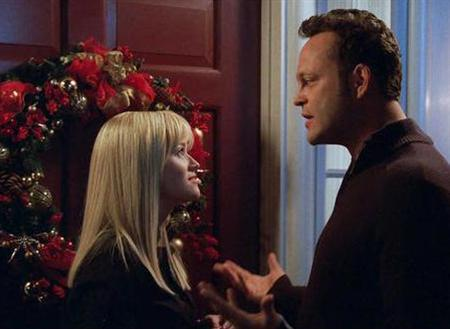 Reese Witherspoon and Vince Vaughn in a scene from Warner Bros.' seasonal comedy ''Four Christmases''. REUTERS/Handout