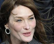 <p>French First lady Carla Bruni-Sarkozy arrives at the Douaumont memorial near Verdun, eastern France, November 11, 2008 during ceremonies commemorating the end of WWI. REUTERS/Gerard Cerles/Pool</p>
