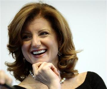 Syndicated columnist Arianna Huffington in a file photo. New media and old can clash and crowd each other out, but blogger extraordinaire Huffington argues in a new book that the two worlds are rapidly joining together to bring out the best in each other. REUTERS/Brian Snyder