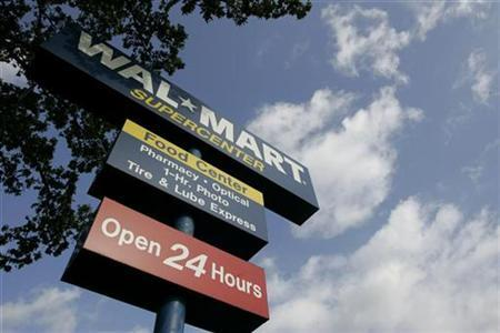 A sign for a Wal-Mart store is seen in Rogers, Arkansas June 5, 2008. REUTERS/Jessica Rinaldi