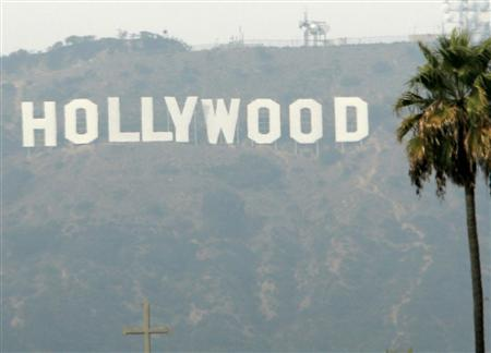 The Hollywood sign is seen on a hazy afternoon in a file photo. REUTERS/Danny Moloshok