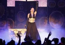 "<p>File photo shows Kylie Minogue performing during her ""KYLIEX2008"" tour in Singapore November 25, 2008. REUTERS/Vivek Prakash</p>"