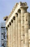 <p>Colonnato del tempio del Partenone, nell'Acropoli di Atene. REUTERS/John Kolesidis</p>