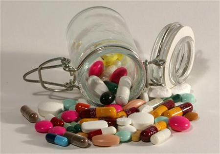 A file photo illustration of assorted pills. REUTERS/Jacky Naegelen