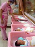 <p>Il reparto dell'ospedale di Taiwan griffato Hello Kitty REUTERS/Christine Lu</p>