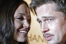 <p>Gli attori Brad Pitt e Angelina Jolie a Londra. REUTERS/Alessia Pierdomenico</p>
