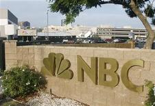<p>The main entrance to the NBC television network studios is pictured in Burbank, California, October 11, 2007. REUTERS/Fred Prouser</p>