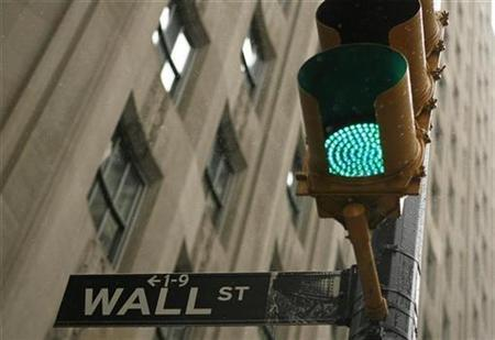 A sign is pictured on Wall St. near the New York Stock Exchange in New York November 25, 2008. REUTERS/Lucas Jackson