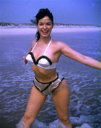 Model Bettie Page poses in this undated photograph provided by CMG Worldwide December 12, 2008. REUTERS/Courtesy CMG Worldwide/Handout