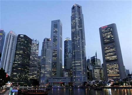 A view of the Central Business District in Singapore in this September 23, 2008 file photo. REUTERS/Allison Ching/Files
