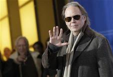 <p>Canadian singer and director Neil Young poses during a photocall to present the film 'CSNY: Deja Vu' running at the 58th Berlinale International Film Festival in Berlin, February 8, 2008. REUTERS/Hannibal Hanschke</p>