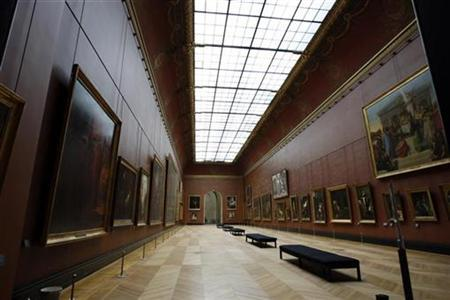 General view of the Louvre museum in Paris October 7, 2008. REUTERS/Charles Platiau